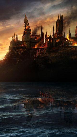 Обои на телефон хогвартс, поттер, магия, горящий, гарри, wand, magician, dumbledore