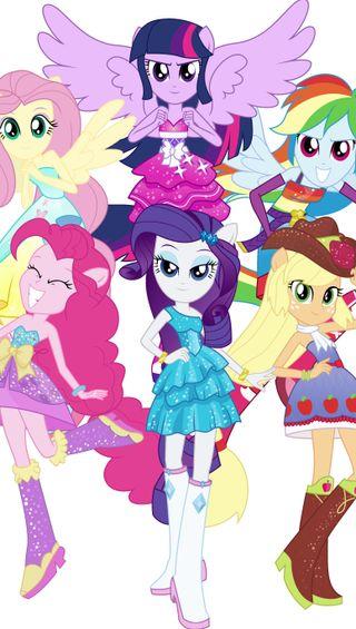 Обои на телефон шесть, пони, мой, маленький, девушки, the mane six, mlp, mane 6, equestria girls