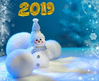 Обои на телефон снежинки, счастливые, снеговик, снег, рождество, новый, зима, christmas wallpaper, 2019