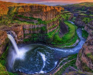 Обои на телефон река, природа, каньон, водопад, river canyon, hd