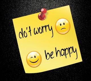 Обои на телефон волноваться, будь, счастливые, поговорка, новый, do not worry
