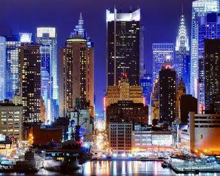 Обои на телефон нью йорк, прекрасные, ночь, здания, город, галактика, башня, note, hd, galaxy