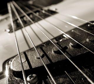 Обои на телефон гитара, черные, музыка, белые