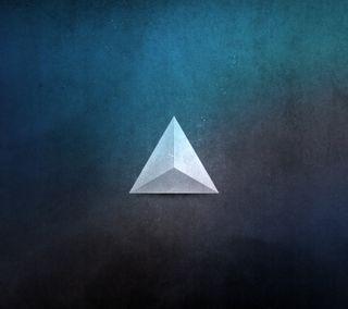 Обои на телефон формы, треугольник, свет, in the light