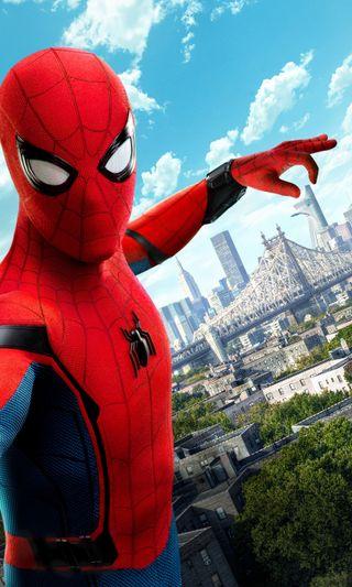 Обои на телефон постер, фильмы, паук, мстители, марвел, возвращение домой, spider man homecoming, spider man, marvel
