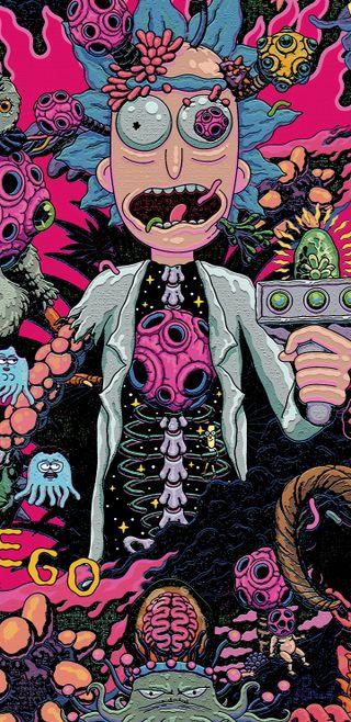 Обои на телефон анимация, рик, бог, аниме, wubba lubba dub dub, rick god, pickle rick, drunk