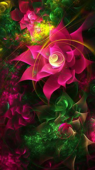 Обои на телефон креативные, цветы
