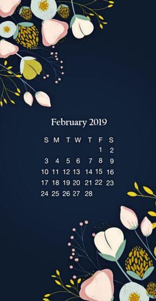 Обои на телефон календарь, милые, february, 2019