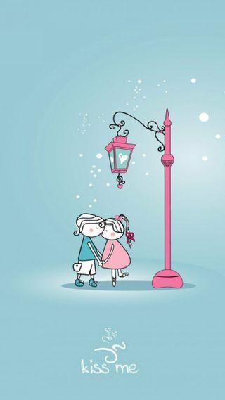 Обои на телефон любовники, я, рисунки, поцелуй, милые, любовь, love, kiss me love