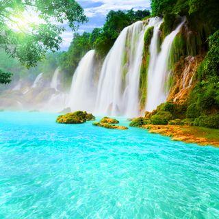 Обои на телефон водопад, тропические, природа, прекрасные