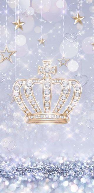 Обои на телефон корона, симпатичные, серебряные, сверкающие, звезды, девчачие, блестящие, crown n stars