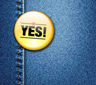 Обои на телефон значок, джинсы, yes, textute