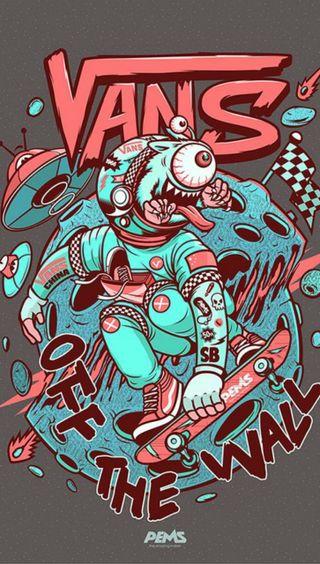 Обои на телефон by pems, vans, графика, скейтборд