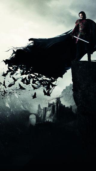 Обои на телефон летучая мышь, фантазия, темные, рыцарь, небо, кровь, дракула, война, арт, dracula untold, art