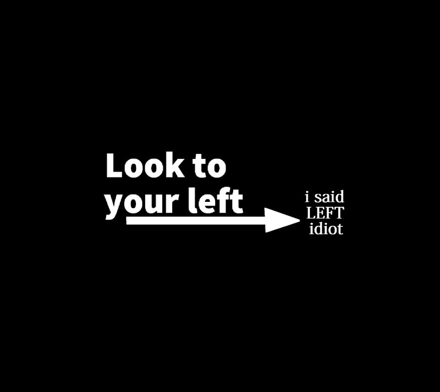 Обои на телефон шутка, слева, простые, мем, забавные, взгляд, idiot