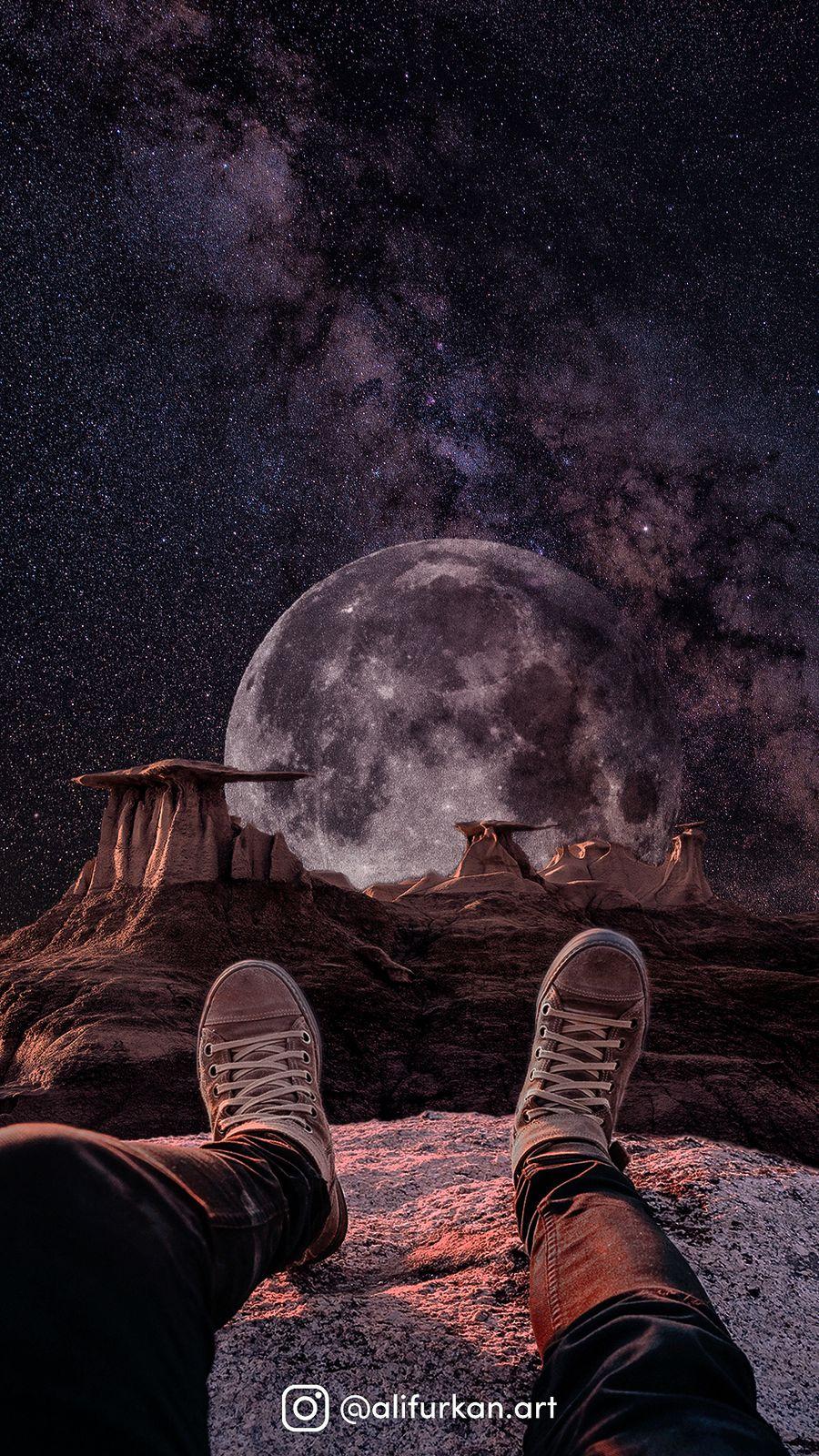 Обои на телефон фантастические, сверхъестественное, мир, луна, космос, абстрактные, uzay, over, in the cosmos, dunya