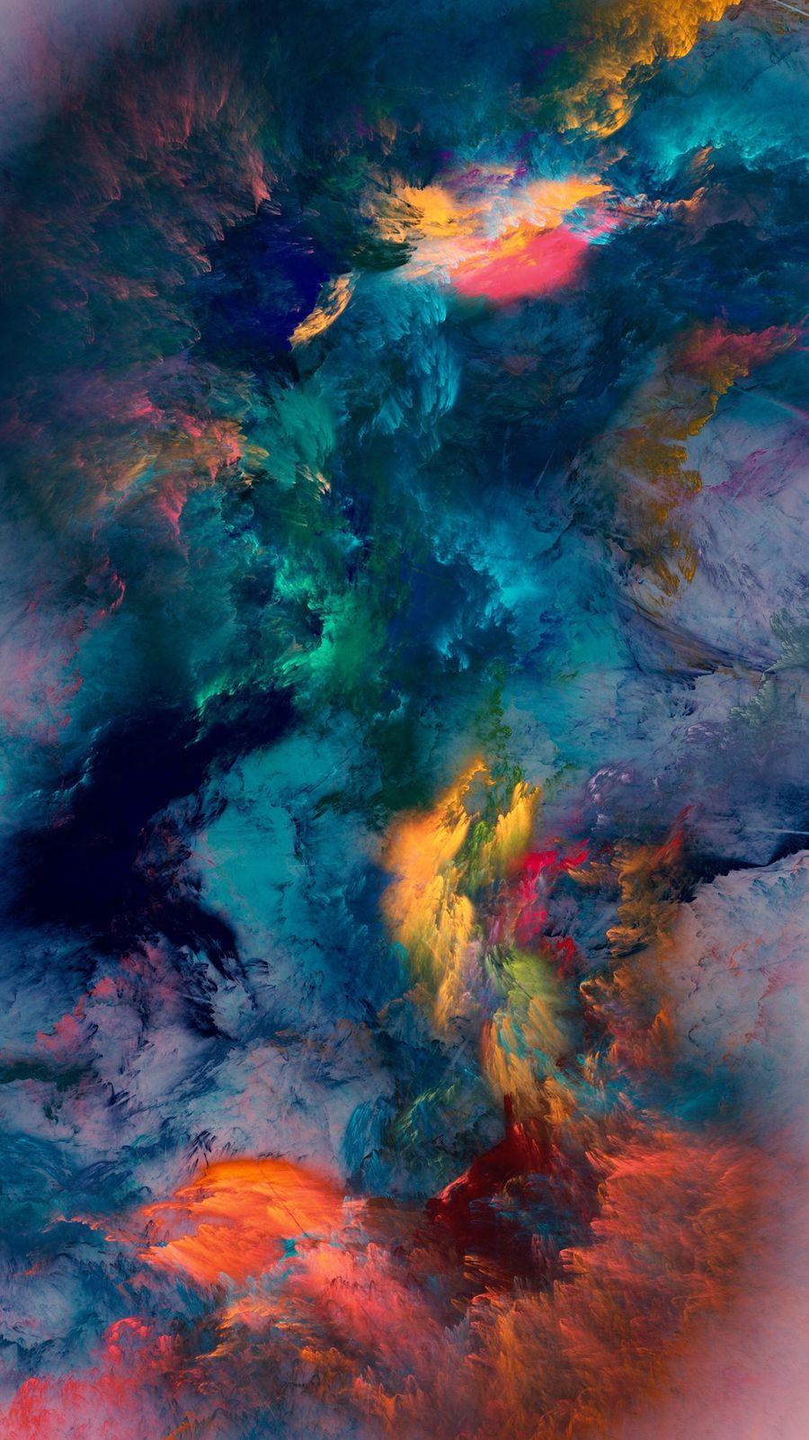 Обои на телефон шторм, цветные