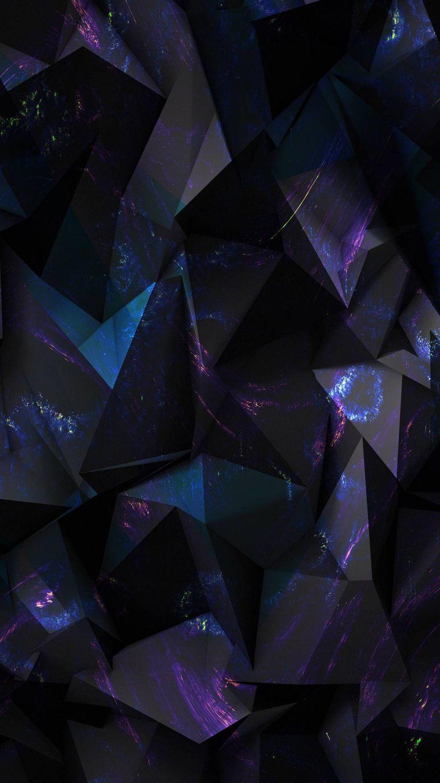 Обои на телефон черные, фиолетовые, абстрактные