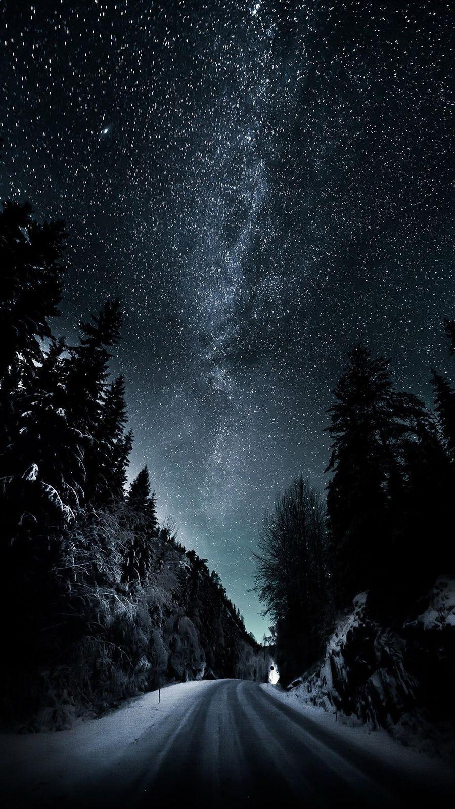 Обои на телефон черные, стена, оригинальные, ночь, небо, звезды, stills, plus, hd